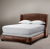 Warner Leather Bed