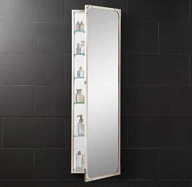 Industrial Rivet Full Length Medicine Cabinet