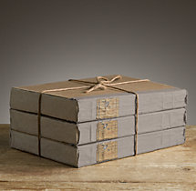 Large Tomes Grey (Set of 3)