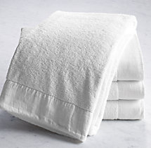 Linen-Bordered 650-Gram Turkish Bath Sheet - Ivory