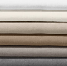 Garment-Dyed Textured Linen Bedding Swatch
