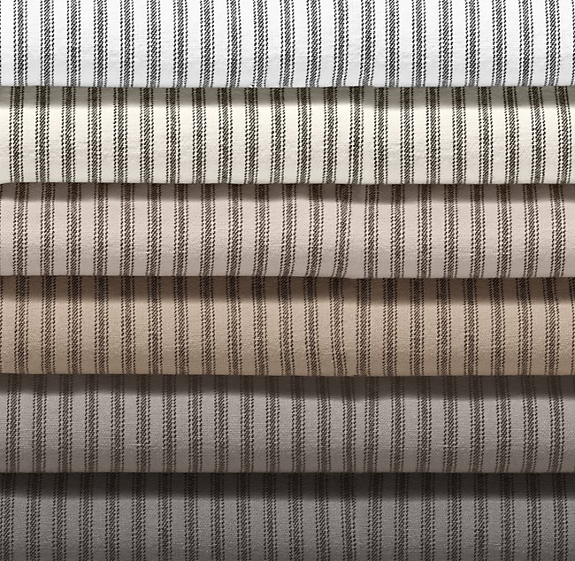 Garment Dyed Ticking Stripe Bedding Swatch