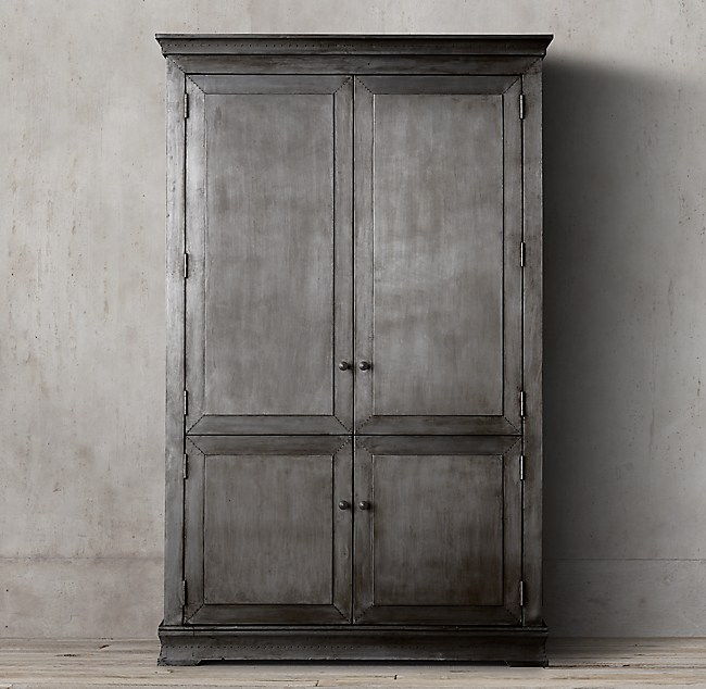 metal-wrapped armoire