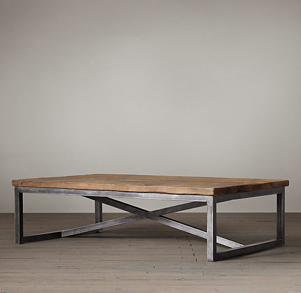 Table Bois Metal Design: Salvaged Boatwood Coffee Table