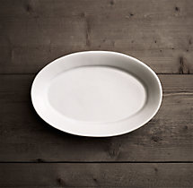 Stoneware Grand-Rimmed Small Oval Platter