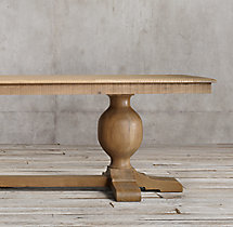 French Urn Pedestal Rectangular Dining Table