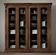 St James Glass 4 Door Cabinet