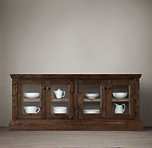 Salvaged Wood Glass Sideboard