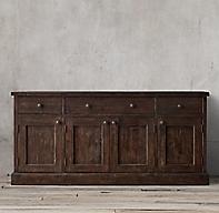 Salvaged Wood Panel Sideboard