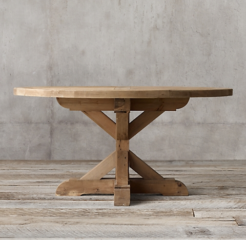 Elegant more sizes & finishes Salvaged Wood X Base Round Dining Table Contemporary - Latest restoration hardware salvaged wood table In 2018