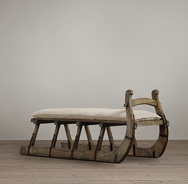 Antique Hungarian Sleigh Bench
