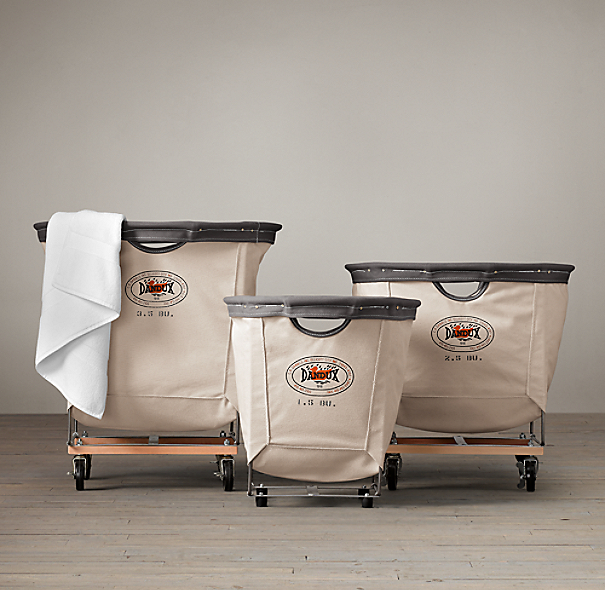 Restoration Hardware Usa: Laundry Cart Round Collection Natural
