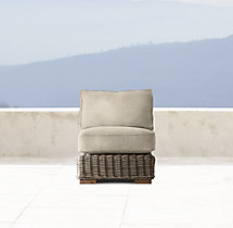 Provence Classic Armless Chair Cushions