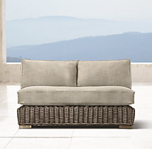 Provence Luxe Two-Seat Armless Sofa Cushions
