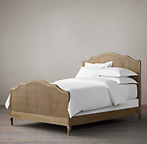 Lorraine Caned Bed With Footboard