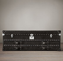 Mayfair Steamer Trunk Low Chest - Old Black Saddle