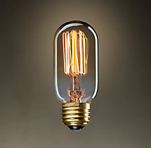 "T14 4¼"" Tube Squirrel-Cage Amber Filament Incandescent Bulb"