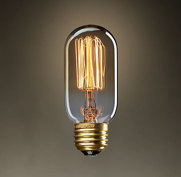 Restoration Hardware Replacement Light Bulbs: Vintage Squirrel-Cage Tube Filament Bulb 40W