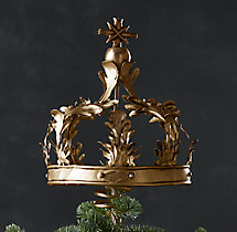 Crown Tree Topper - Brass