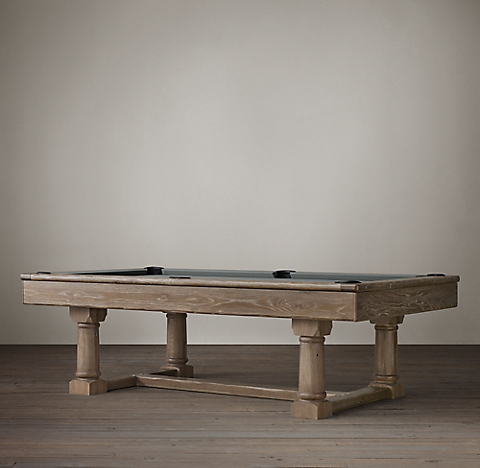 Brunswick Exclusive Tournament Billiards Table - Restoration hardware pool table