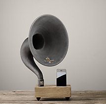 Gramophone Mini For iPhone® - Dry Oak