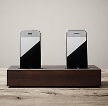 Double Charging Station for iPhone® - Walnut