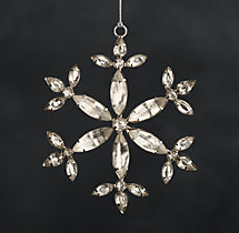 Victorian Glass Snowflake - Hexagon