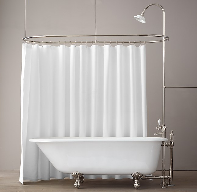 Curtains Ideas claw foot tub shower curtain : Classic Victorian Clawfoot Tub With Tub fill And Shower Converter