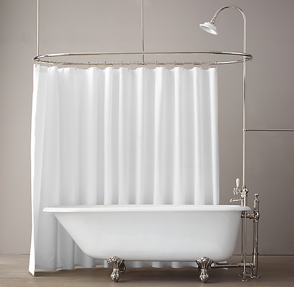 Classic Victorian Clawfoot Tub With Tub Fill And Shower