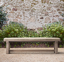 Majorca Weathered Teak Dining Bench Cushions