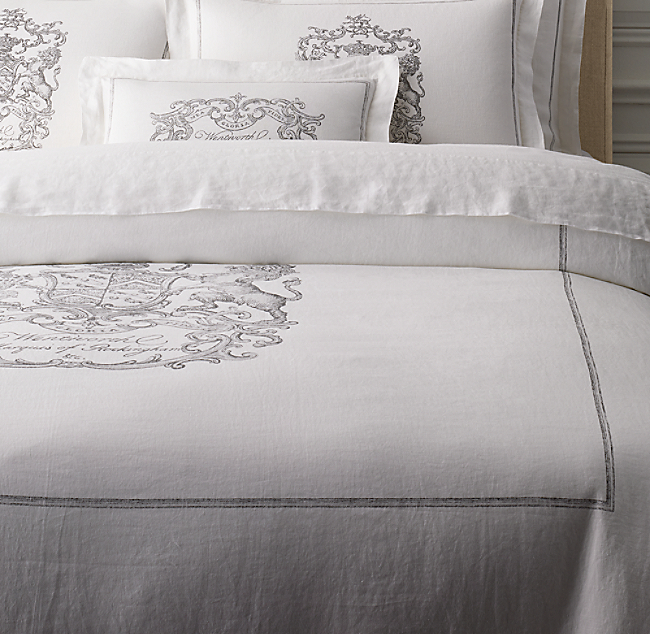 Wentworth crest vintage washed belgian linen duvet cover wentworth crest vintage washed belgian linen duvet cover color preview unavailable previous publicscrutiny Image collections