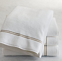 Hotel Satin Stitch Turkish Cotton Bath Sheet