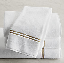 Hotel Satin Stitch Turkish Cotton Hand Towel