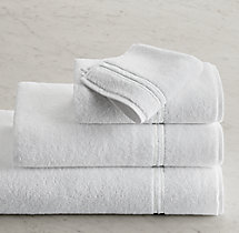 Hotel Satin Stitch Turkish Cotton Washcloth