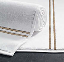 Hotel Satin Stitch Turkish Cotton Bath Mat