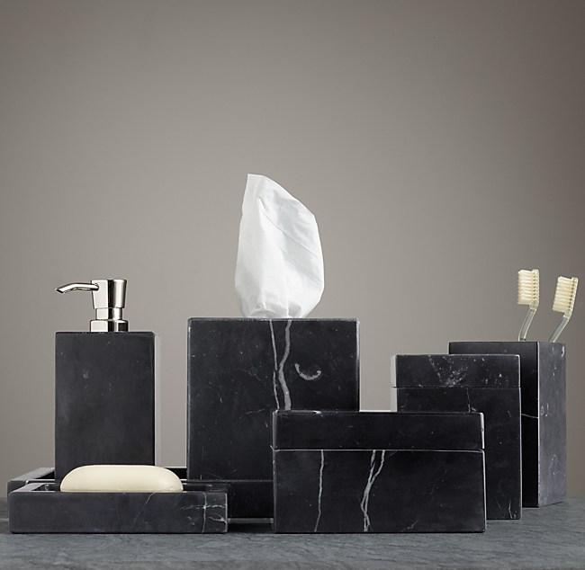 Black marble bath accessories - Black marble bathroom accessories ...