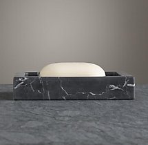 Black Marble Accessories - Soap Dish