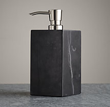 Black Marble Accessories - Soap Dispenser