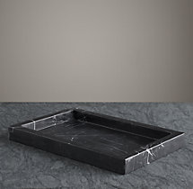 Black Marble Bath Tray