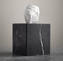 Black Marble Accessories - Tissue Cover