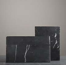 Black Marble Accessories - Canisters