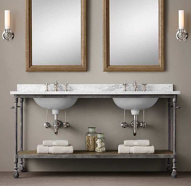 Dutch Industrial Double Washstand