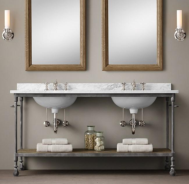 Dutch Industrial Double Washstand