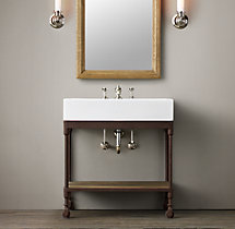 Dutch Industrial Single Console Washstand