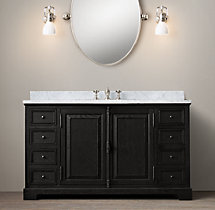French Casement Single Extra-Wide Vanity