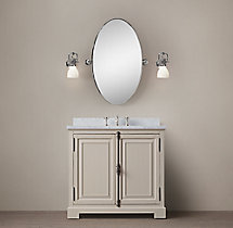French Casement Single Vanity Sink