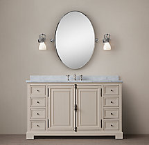 French Casement Extra-Wide Single Vanity