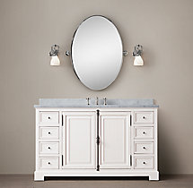 French Casement Extra-Wide Single Vanity Sink