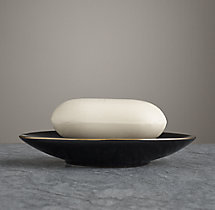 Le Bain French Porcelain Soap Dish - Black