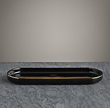 Le Bain French Porcelain Bath Tray - Black